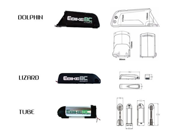 DT Battery Dimensions