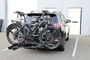 Envo ebikes on truck rack