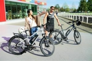 people riding electric bicycles canada