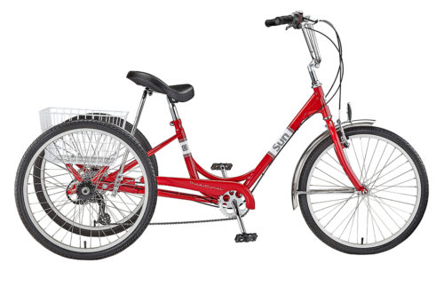 Electric TRIKE SUN ADULT 24in/7 speed, best electric bike canada, ebike bc, struggle balance riding,