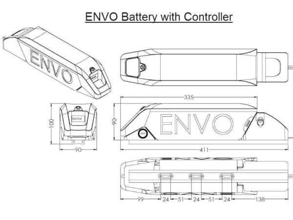 ENVO battery with controller