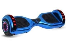 hoverboard in metallic blue