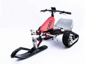ENVO Electric SnowKart, completely battery-operated vehicle, independent e-brake