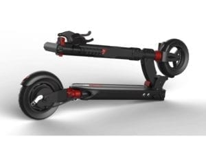 electric scooter folded up
