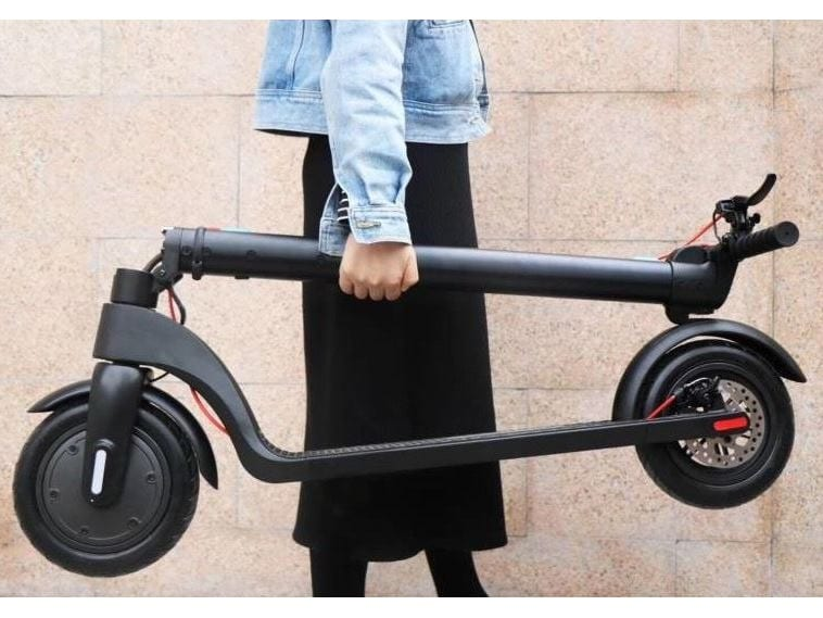 foldable electric scooter folded