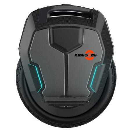 kingsong ks 16x electric unicycle from the side