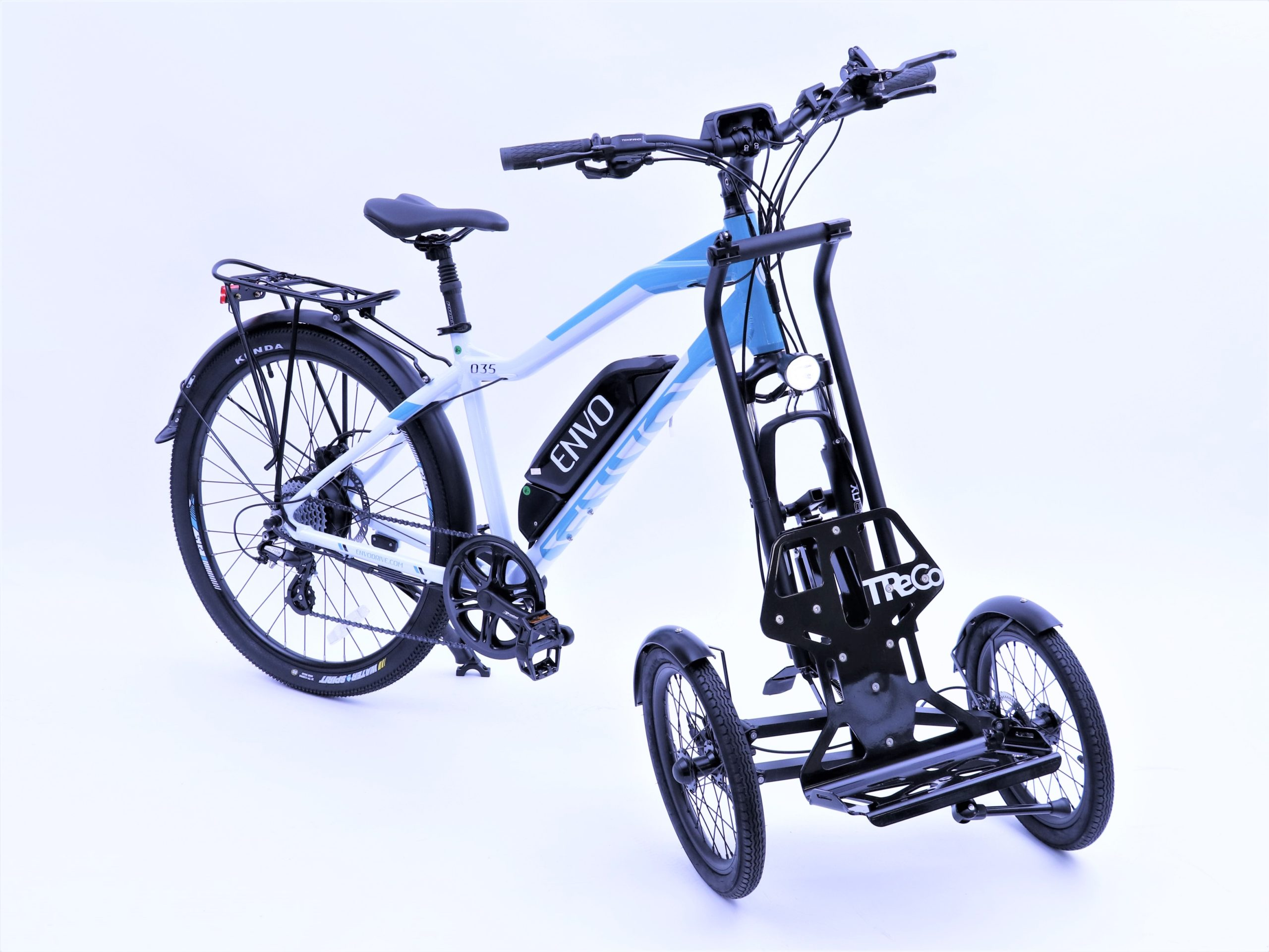 Envo D35 ebike with a Trego Trolley