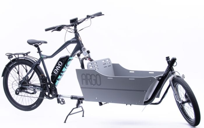 envo ebike with cargo attachment by argo