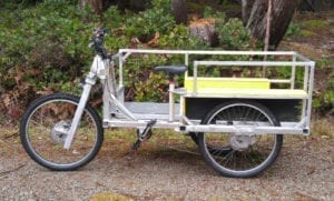 bike with cargo attachment