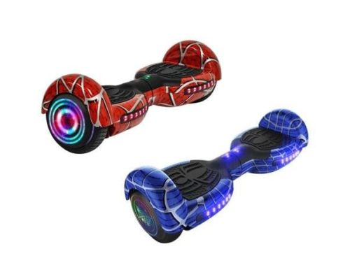 red and blue hover boards