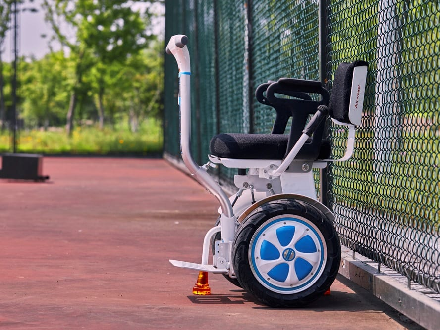 electric wheelchair from the side