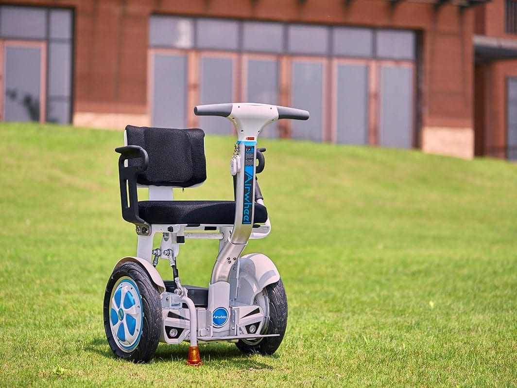 electric wheelchair on grass