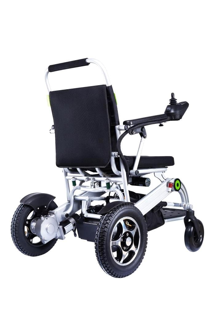 electric wheelchair from the back