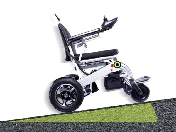 electric wheelchair on the road