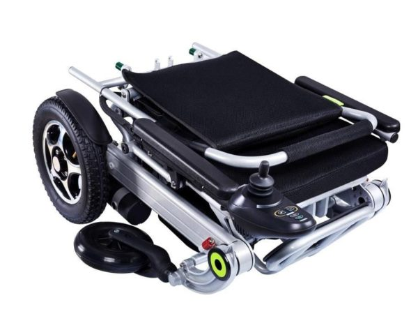 folded electric wheelchair