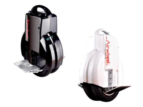 Airwheel unicycles electric in black and white