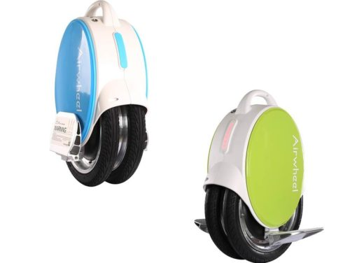 two Airwheel Q5 electric unicycles