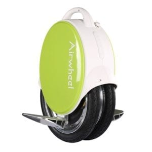 Airwheel Q5 electric unicycle in lime green