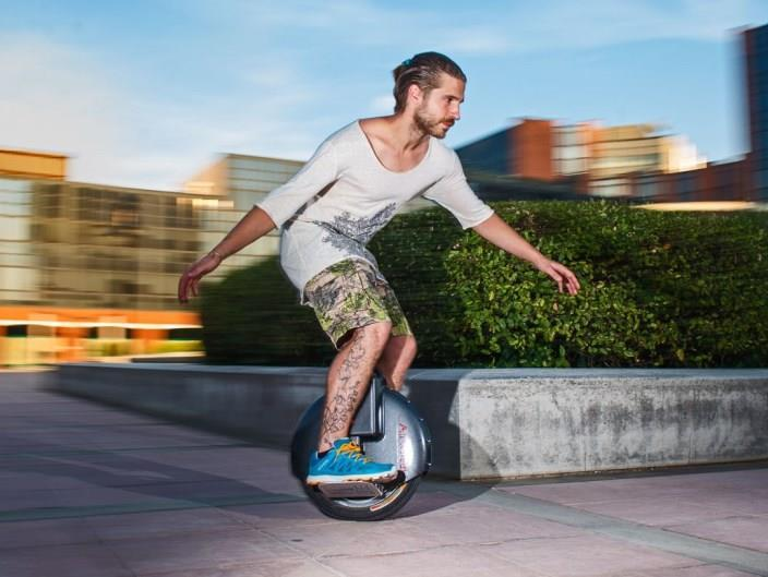 Airwheel X3 X3S electric unicycle being ridden