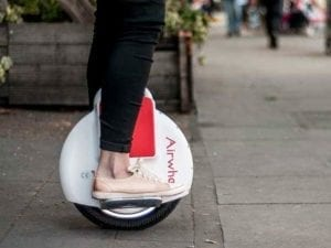 Airwheel X3 X3S electric unicycle ride on the street
