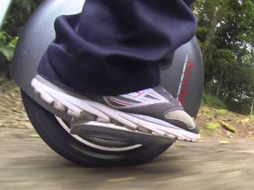 Airwheel unicycle in motion