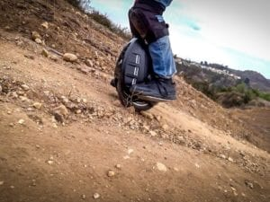 electric unicycle goes up hill