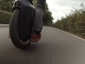 Gotway Monster e-unicycle on the road