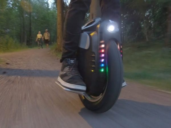 Gotway Msuper Pro unicycle at speed