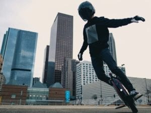 Electric unicycle rider