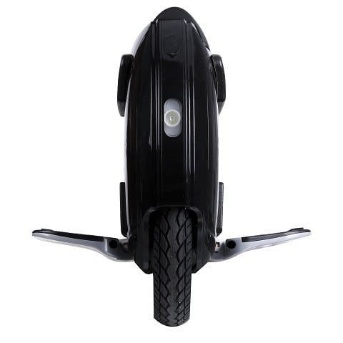 Electric unicycle from front