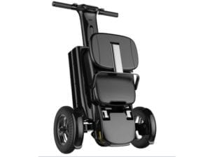 folded electric wheelchair with handles