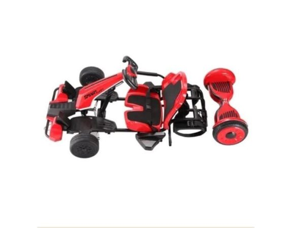 SmartKart Speed Electric Go cart with Hoverboard Red 1