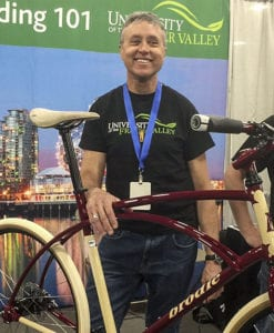 Paul Brodie with his latest bicycle