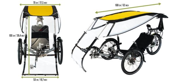 expedition rain protection for recumbent trike