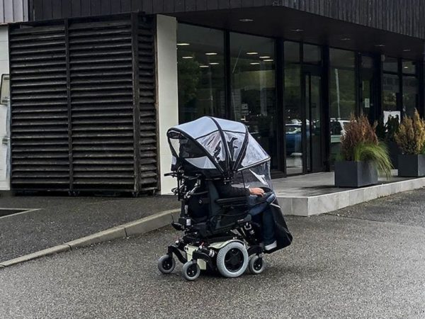 veltop cosy rain protection for electric wheelchair canopy weatherprotection