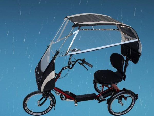 veltop disco rain protection weather protection tricycle