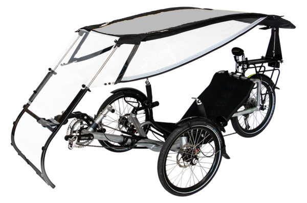 veltop expedition pweather protection canopy for trikes umbrella gris