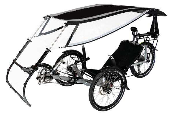 veltop expedition pweather protection canopy for trikes umbrella noir