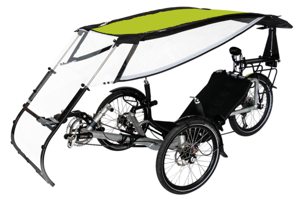 veltop expedition pweather protection canopy for trikes umbrella vert