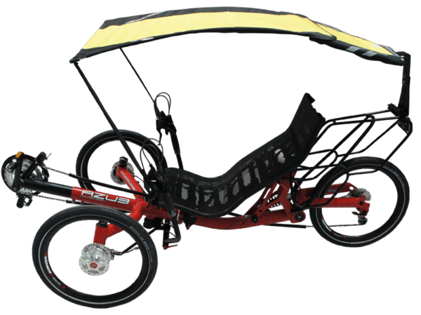 veltop sun ride expedition sun protection for recumbent trike