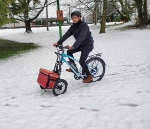 Trego cargo add on for an ebike