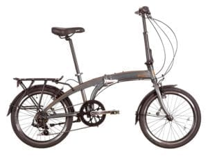 A bicycle that folds up