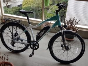 ENVO D35 electric bicycle in green and white